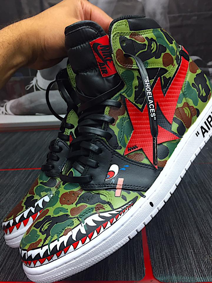 Check Out Our Bape x Off White Jordan 1 Tutorial!