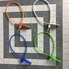 Off White Zip Tie (8 Colors)