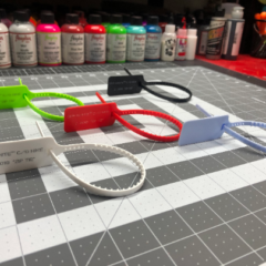 Premium Off White Zip Ties with Text (7 Colors)